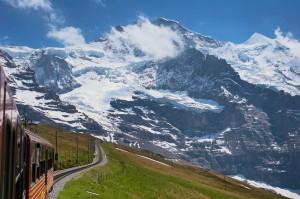 train in alps
