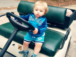 Leo in golf cart_blog version